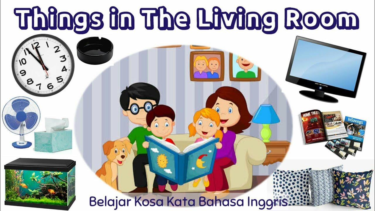 Things In The Living Room (Belajar Kosa Kata Benda-Benda Di Ruang Tamu)   English Vocabularies - YouTube