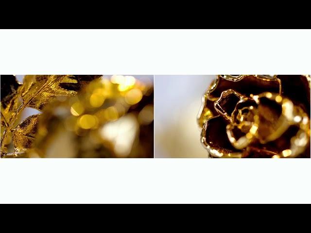 Herstellung der Degussa Goldrosen