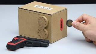 Build a Safe Keep Money and Gun - Digit Safe Lock Cardboard