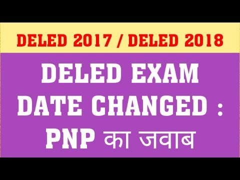 DELED 2017& DELED 2018 : SEMESTER EXAM : PNP ANSWER
