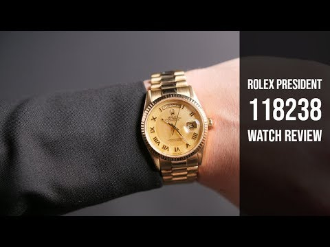 Rolex President Gold Day-Date 118238 Watch Review   Bob's Watches