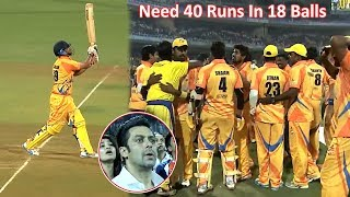 Best Last Ball Finish In CCL Ever | To Win 40 Runs In 3 Overs