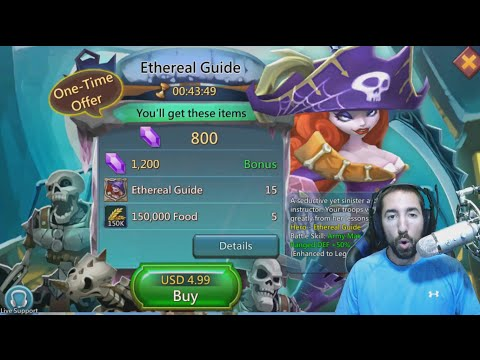 Lords Mobile NEW HERO REVIEW!! Ethereal Guide!!