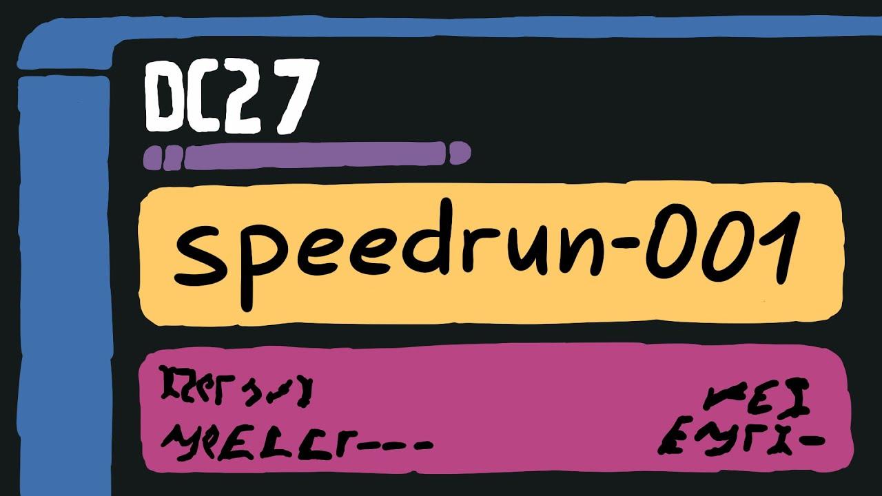 Speedrun Hacking Buffer Overflow - speedrun-001 DC27