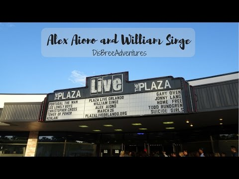 Alex Aiono & William Singe Concert Plaza Orlando | DisBreeAdventures