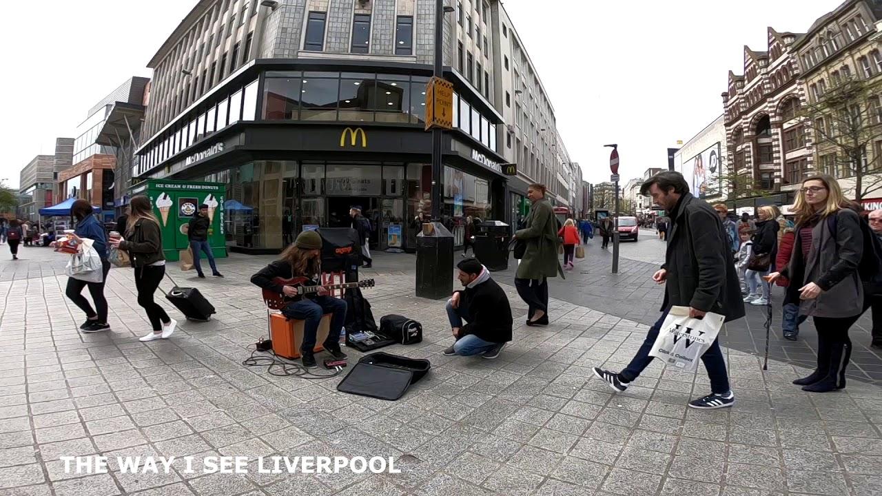 Walking around Liverpool City Centre