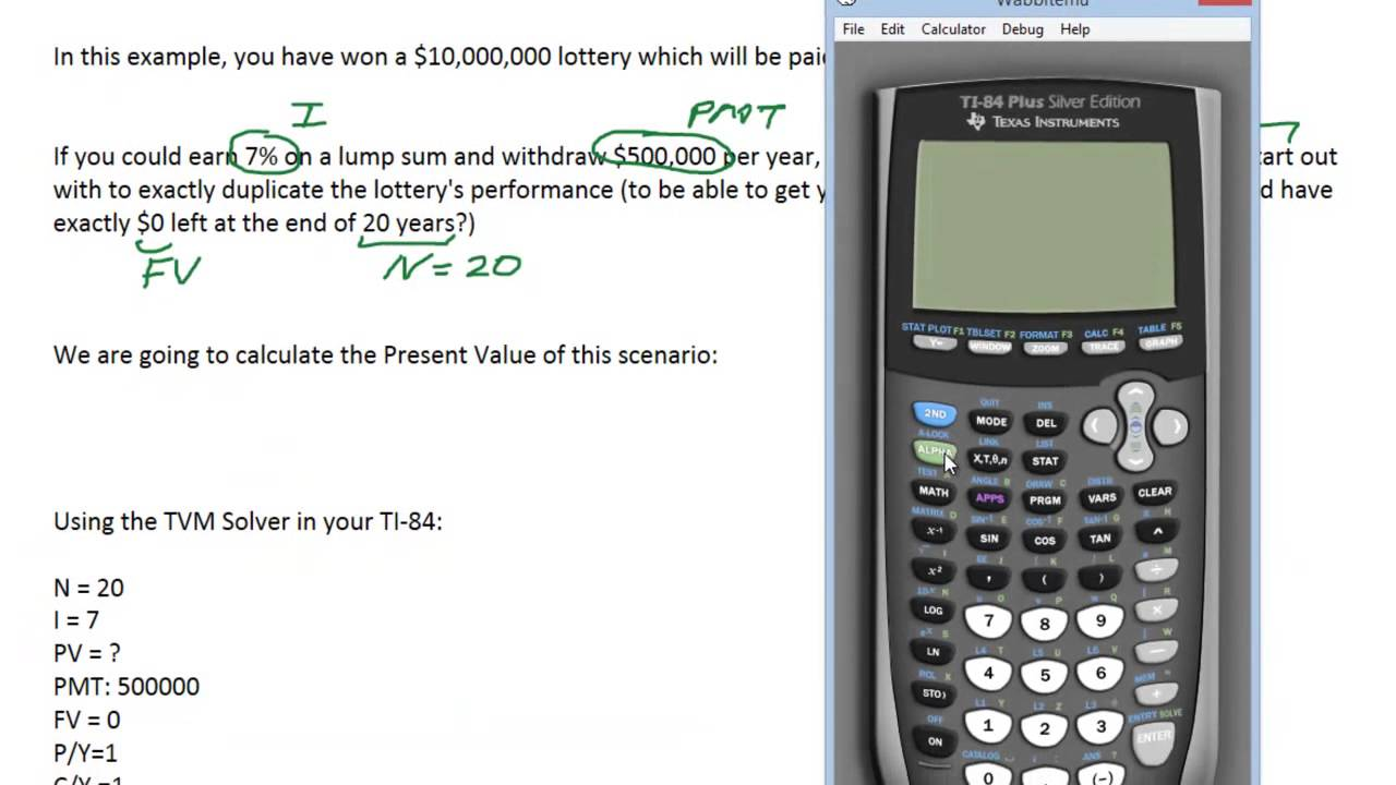 Lottery annual payments calculator youtube film andel na horach.