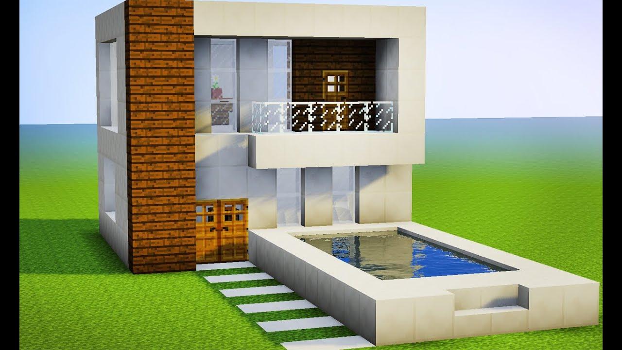 Minecraft como fazer sua primeira casa moderna pequena for Casa moderna minecraft design