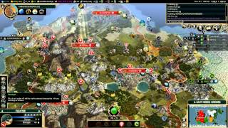 Civilization V - Brave new World - no quitters Multiplayer - game 4-6 (gameplay)