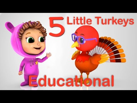 5 Little Turkeys (Learn Counting) | Nursery Rhymes | Educational (Thanksgiving Song)