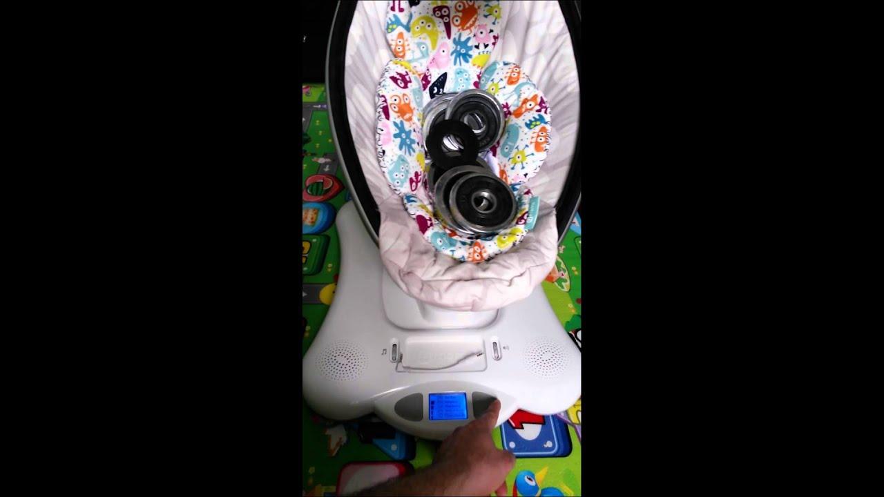 4moms mamaRoo Bouncer Multi Plush Review & Demo! (2016) - YouTube
