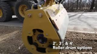 Video still for Road Widener Offset Vibratory Roller: A Safer Compaction Method
