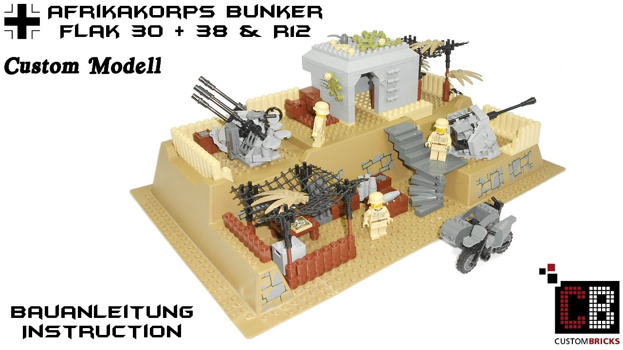 CUSTOMBRICKS de - CUSTOM-WW2-LEGO WW2 WWII Wehrmacht Bunker
