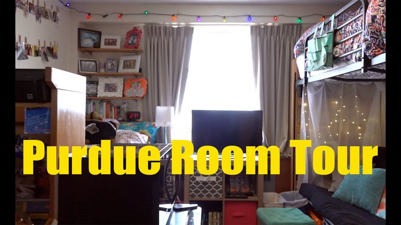 purdue university residences room tour a sample double room 2016