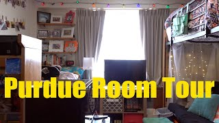 Purdue University Residences Room Tour | A sample double room 2016