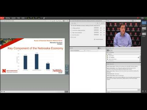 UNL Bureau of Business ResearcWebinar Series: Economic Impact of the Nebraska Insurance Industry