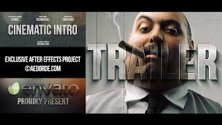 After Effects Template - Cinematic Intro / Action Movie Trailer