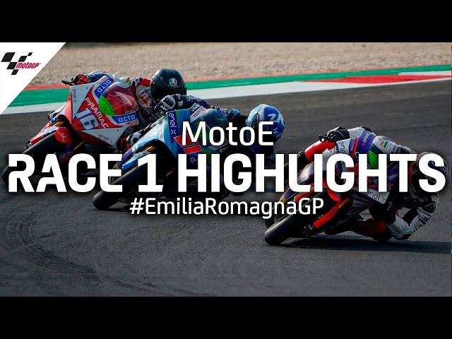 MotoE Race 1 Highlights | 2020 #EmiliaRomagnaGP