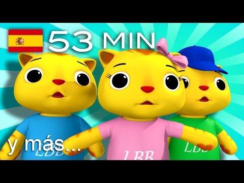 Tres gatitos | ¡Y más canciones infantiles! | 53 minutos | de LittleBabyBum