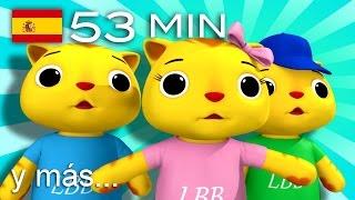 Tres gatitos | ¡Y más canciones infantiles! | 53 minutos | de LittleBabyBum thumbnail