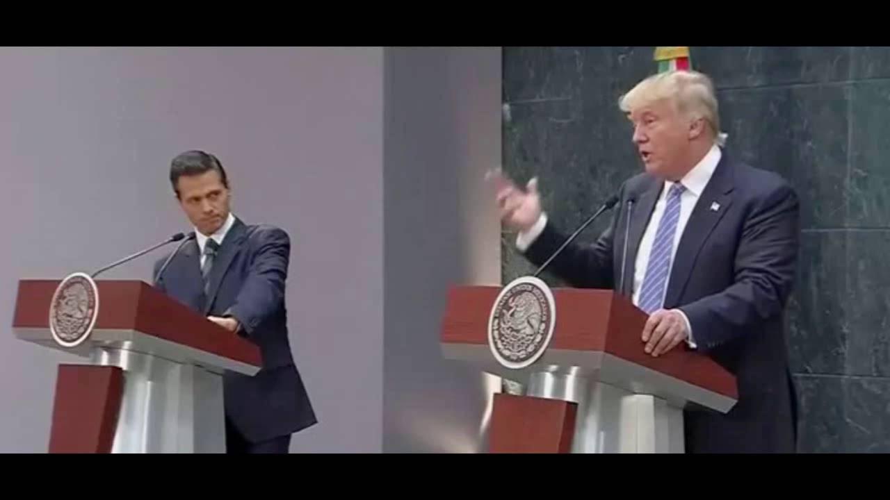 En su cara, Donald Trump pone en ridículo a México | 31 Agosto 2016
