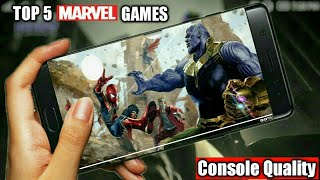 Top 5 Marvel Games for Android | Console Quality Games | With Download links | [Nepali]