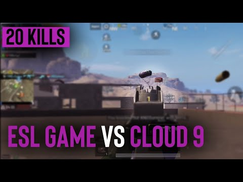 20 Kill ESL GAME VS CLOUD 9 | Sixless | PUBG Mobile
