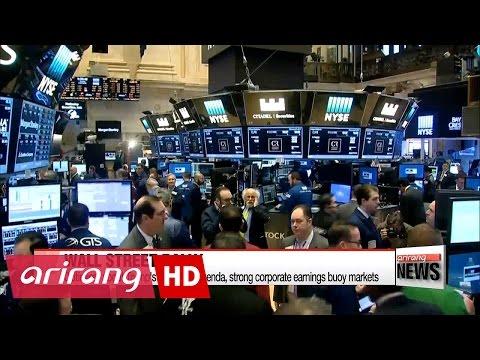Optimism of Trump's economic agenda, strong corporate earnings buoy U.S. markets