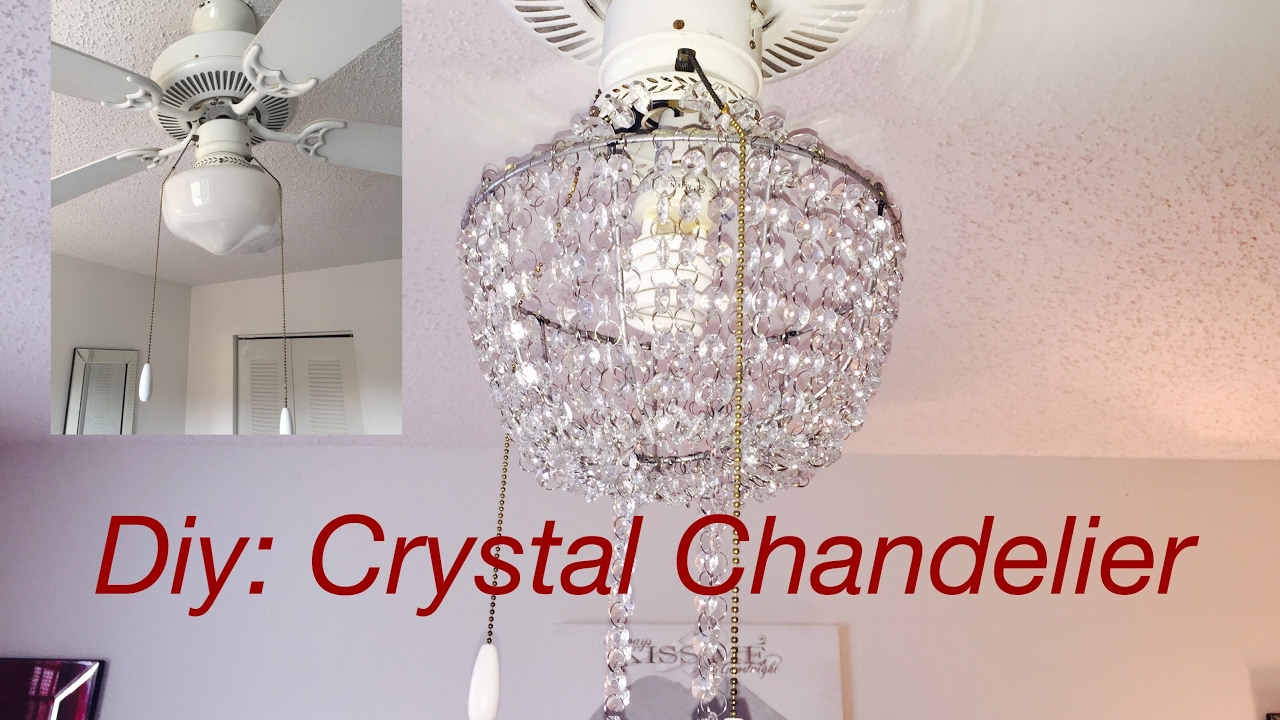 Diy real crystal chandelier youtube diy real crystal chandelier mozeypictures Images