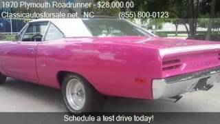 1970 Plymouth Roadrunner  for sale in Nationwide, NC 27603 a #VNclassics