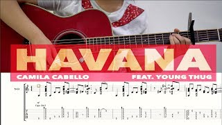 (Camila Cabello ft. Young Thug) Havana - Fingersyle Guitar TABS Video | Josephine Alexandra