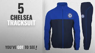 Top 10 Chelsea Tracksuit [2018]: Chelsea FC Official Football Gift Mens Jacket & Pants Tracksuit