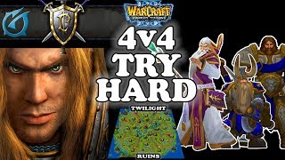 Grubby | Warcraft 3 TFT | 1.30 | 4v4 on Twilight Ruins - 4v4 Tryhard