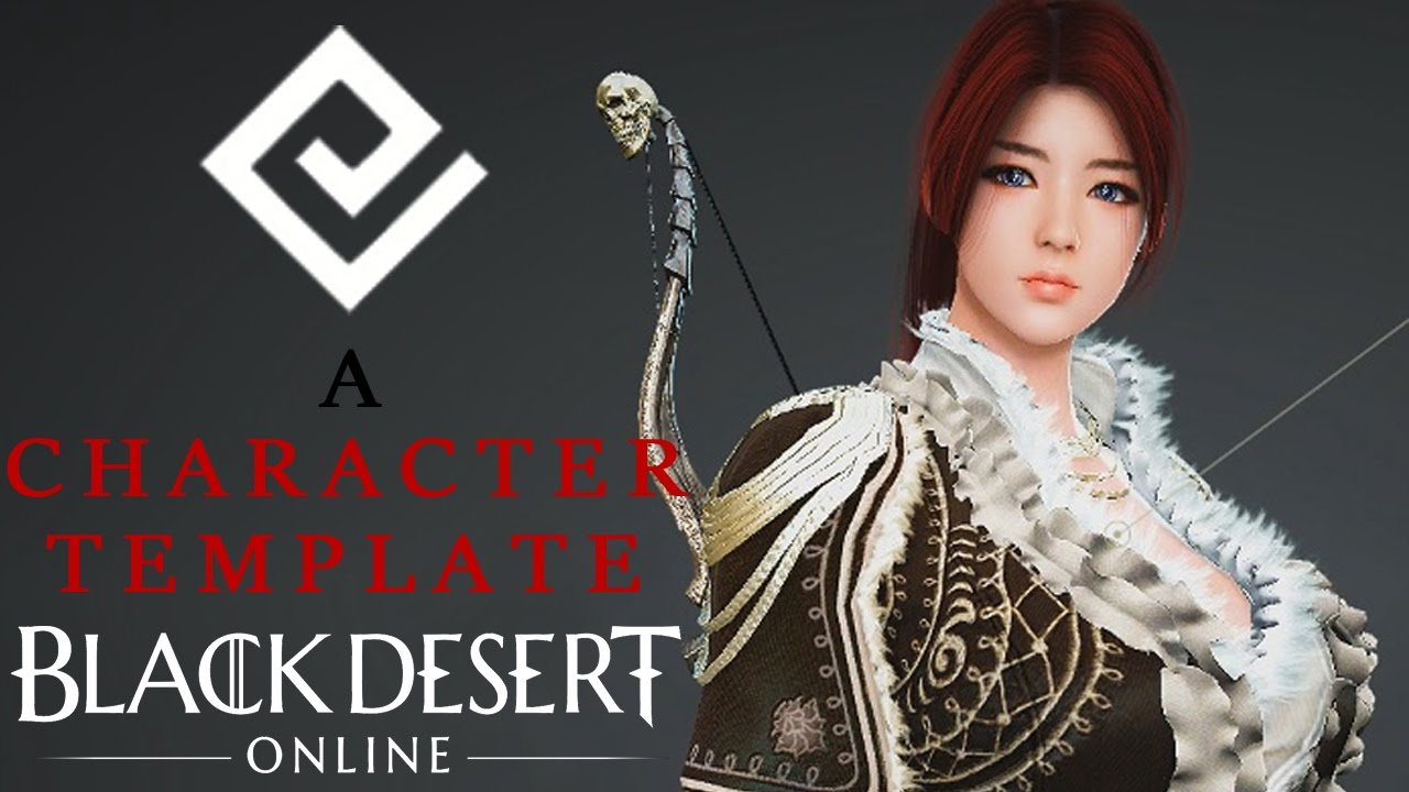 how to download a custom character template black desert online