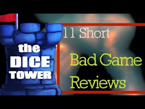 11 Short Bad Game Reviews - With Tom Vasel