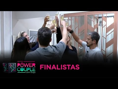 Finalistas comemoram reta final do Power Couple