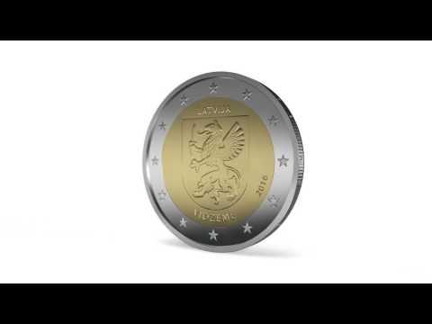 Latvijas 2 eiro monēta-Vidzeme (2016). Latvian 2 euro coin-Vidzeme (2016)