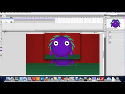Drawing, Animating and Scripting an Interactive Character in Flash - ActionScript 3