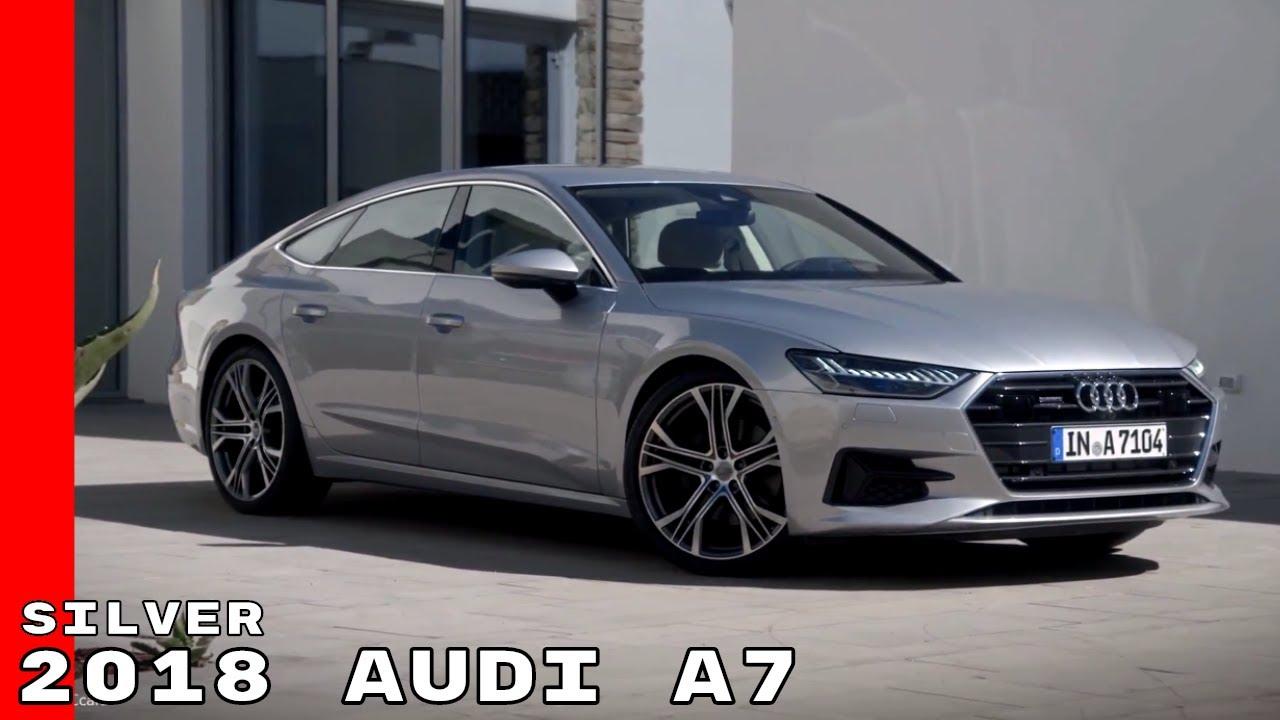 Silver 2018 Audi A7 Exterior Interior Drive