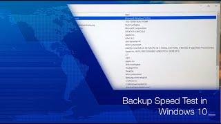 Speed Test: Backup in Windows 10
