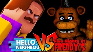 Minecraft - HELLO NEIGHBOUR VS FIVE NIGHTS AT FREDDY'S!