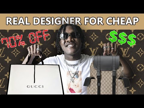 How To Get DESIGNER CLOTHES For CHEAP | GUCCI, OFF WHITE, PRADA |Affordable Clothing