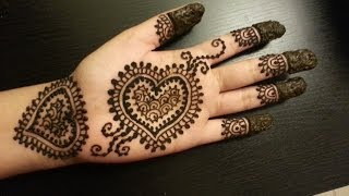 pretty heart henna design easy hearts shaped mehendi design