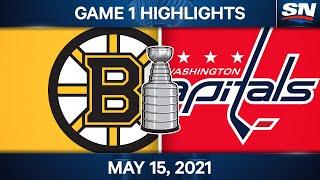NHL Game Highlights | Bruins vs. Capitals, Game 1 - May 15, 2021