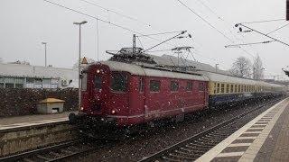 Historische Re 4/4 I 10019 der SBB mit Rheingold-Express in Peine am 06.12.2012 {HD}