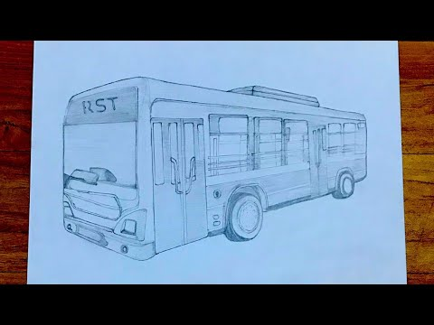 How to draw a bus very easy for beginners bus sketch draw session