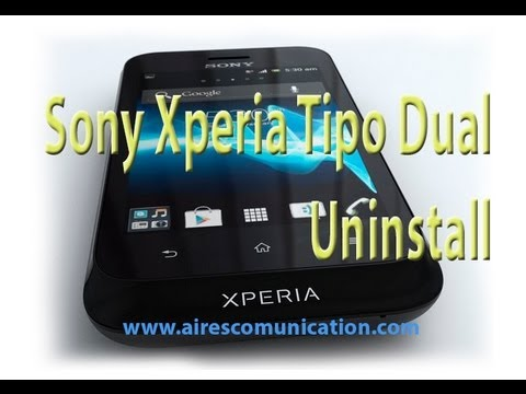 Uninstall Apps and games at Sony Xperia tipo Dual phone