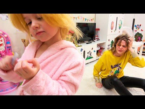 Ева и мама - превратилась в куклу!