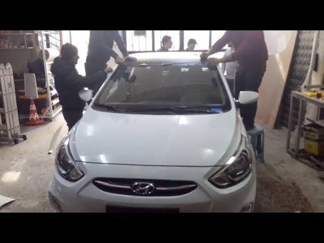 Apak Reklam ile Araç Tavan Folyo Kaplama | Hyundai Araç Kaplama (araç giydirme)