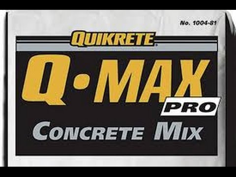 Quikrete Q Max Pro High Strength Concrete Mixing Instructions Review
